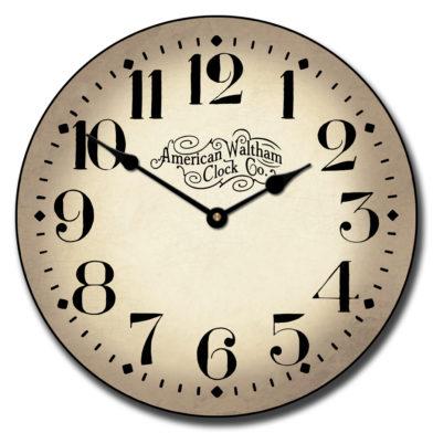 Houston Parchment Clock