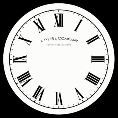 Telegraph Clock roman logo