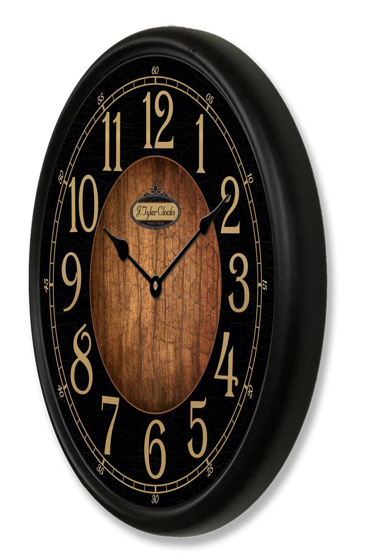 Black Amp Wood Clocks Collection The Big Clock Store