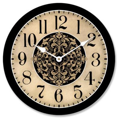 Seawood Harbor Brown Clock