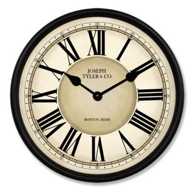 Waterford Clock blk met