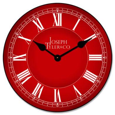 Classic Red Clock