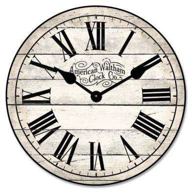 American Waltham Ivory Clock
