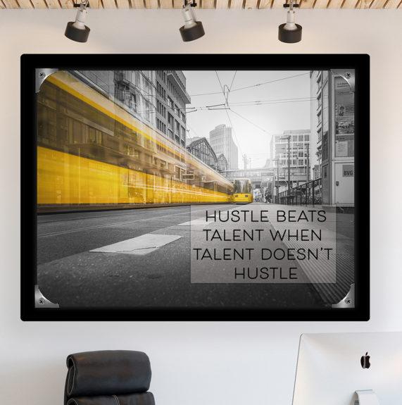 Hustle beats talent fr close up