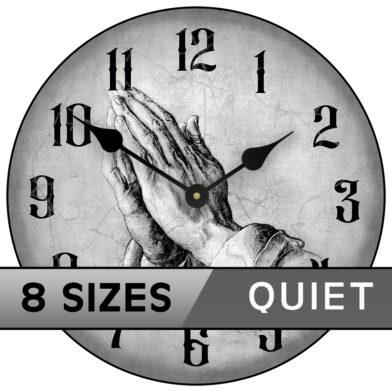 Prayer of faith clock gray sizes