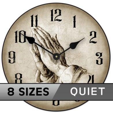 Prayer of faith clock tan sizes