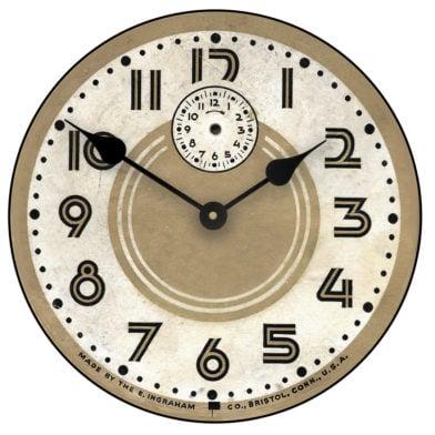 retro 60s clock
