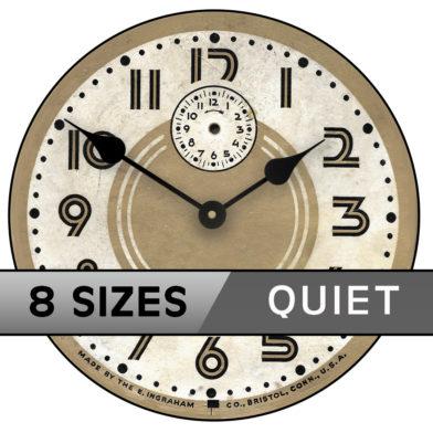 retro 60s clock sizes