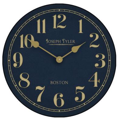Navy & Gold wall clock